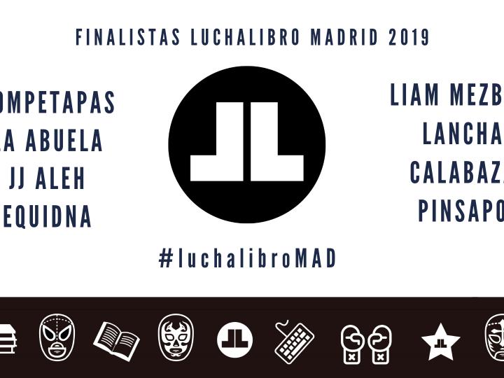Finalistas LuchaLibro Madrid 2019